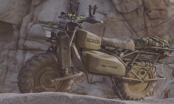 Rokon Motorcycle for Hunters